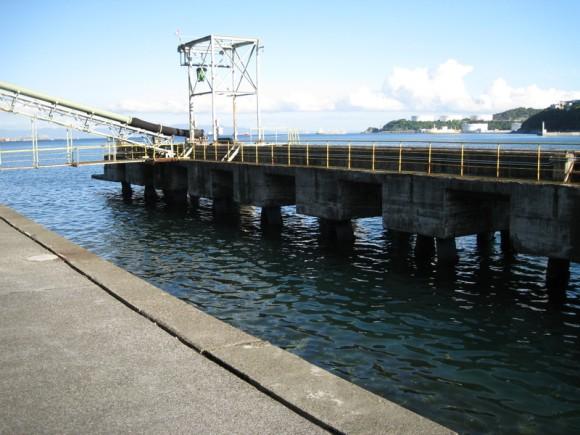 『【住友大阪セメント裏】桟橋前の橋脚間の様子(1)』