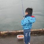 汐見埠頭へサビキ釣りに 息子の釣りデビュー!!