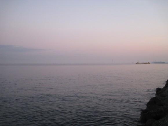 助松埠頭の夜明け