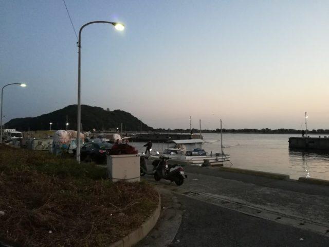由良港到着は6時キッカリ