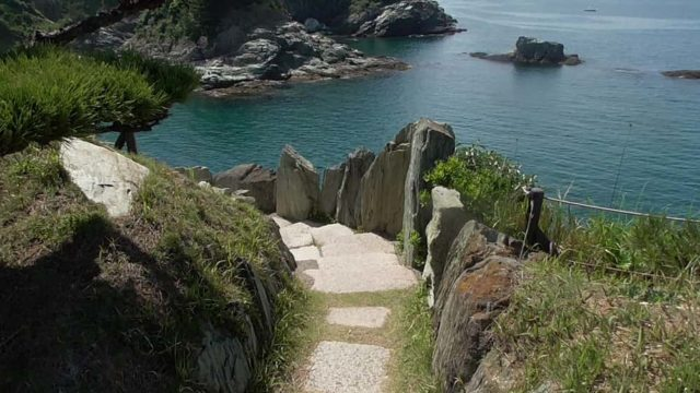 番所の鼻南向きへ下りる階段