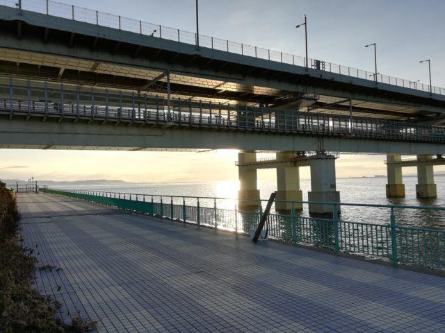 関空連絡橋の真下の釣り場