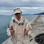 養老漁港でアオリイカのエギングとヤエン釣り