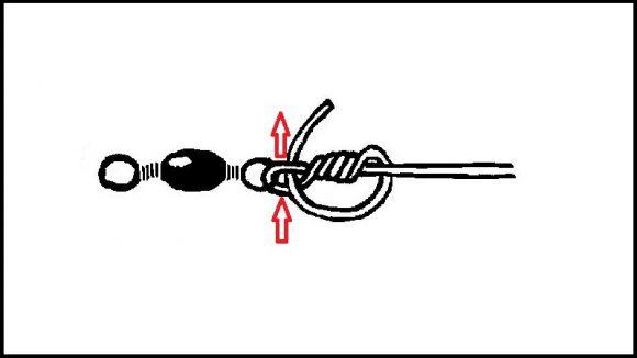 【クリンチノット】サルカンの結び方(3)