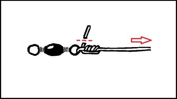 【クリンチノット】サルカンの結び方(4)
