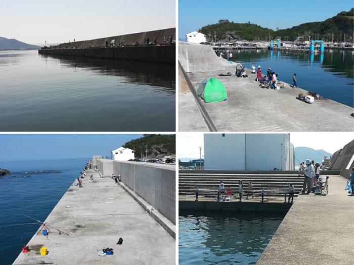 田ノ浦漁港 釣り場の各ポイント