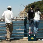 田ノ浦漁港 東向きの波止でサビキ釣り開始