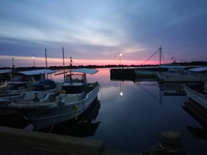 淡路島の由良漁港到着は午前5時