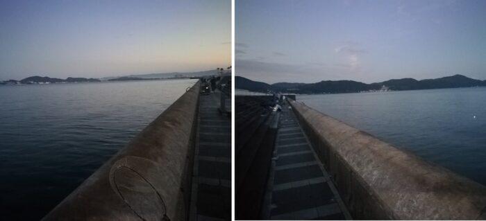 午前5時半のマリーナセティ大波止の様子
