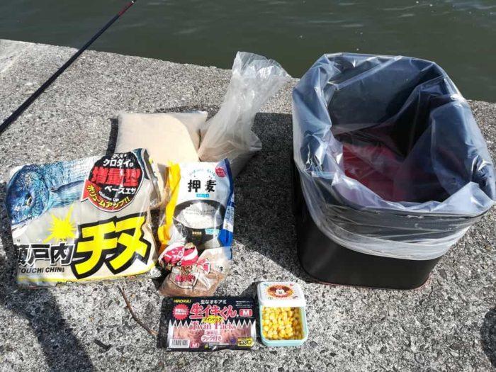 紀州釣りのダンゴとエサ