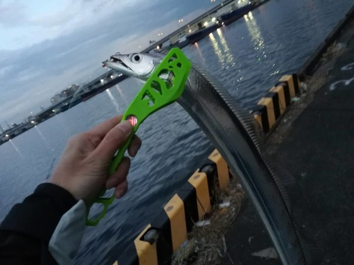 電気ウキ釣りでタチウオゲット