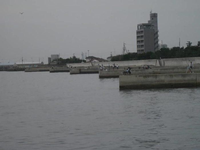みさき公園裏釣り場【6本並んだ小波止】