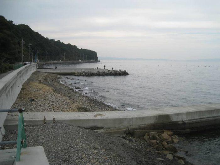 水門付近のテトラ帯