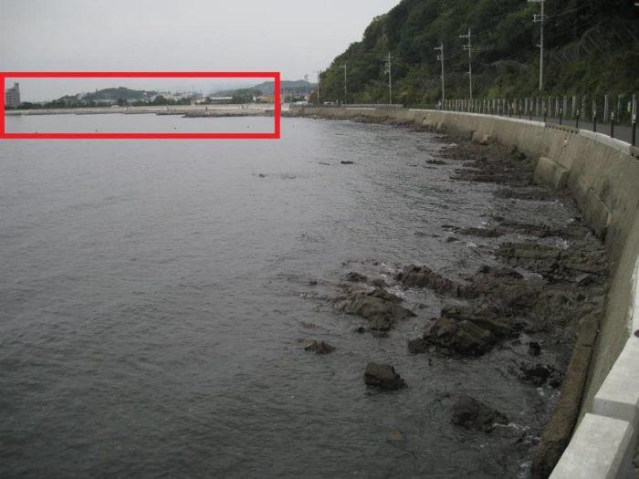 長松海岸の磯場の様子
