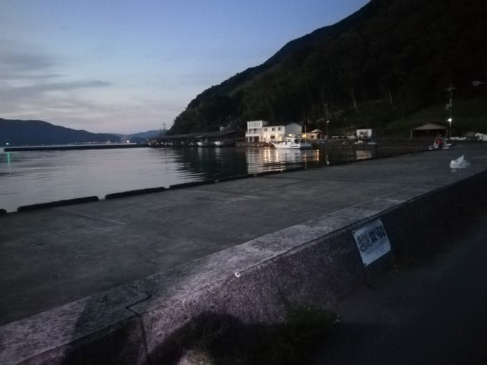 漁港港内の釣り場はかなり広い
