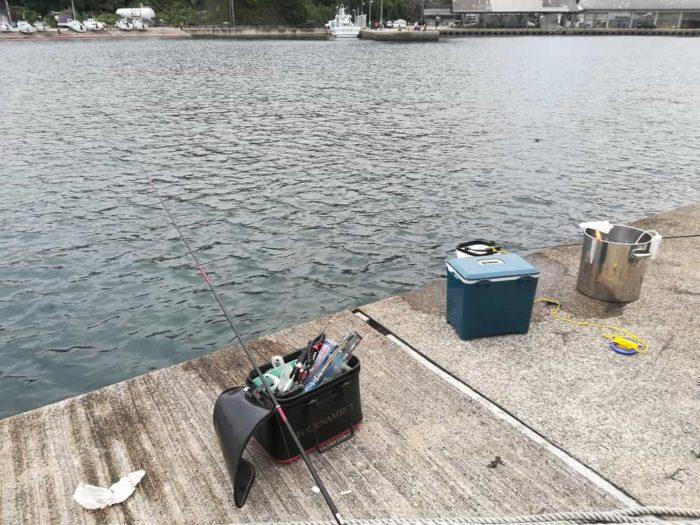 今日の釣り座【間人漁港内の波止】