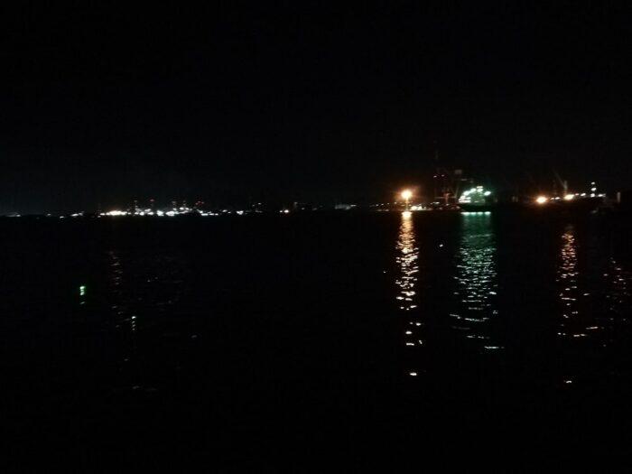 本日の釣り座:水軒 鉄鋼団地護岸北向き