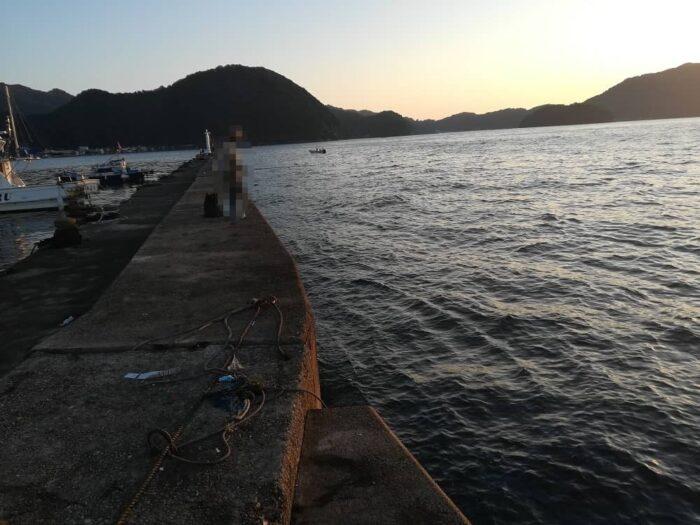 養老漁港での本日の釣り座