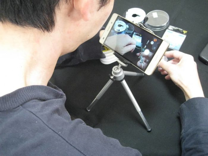 スマホを使って手元の動画撮影