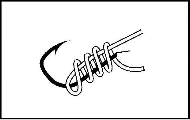 釣り針の結び方 - 外掛け結び -(2)
