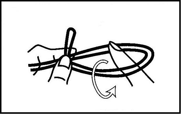 ハリスチチワの結び方【チチワ結び】(2)