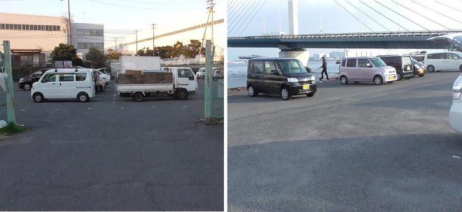 かもめ大橋下無料駐車場