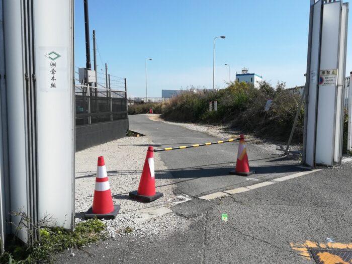 かもめ大橋釣り解放区への入口