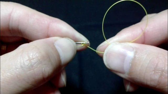 漁師結びの結び方(8)三度輪を作る