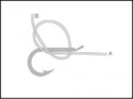釣り針の結び方 内掛け結び(2)