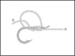釣り針の結び方 内掛け結び(3)