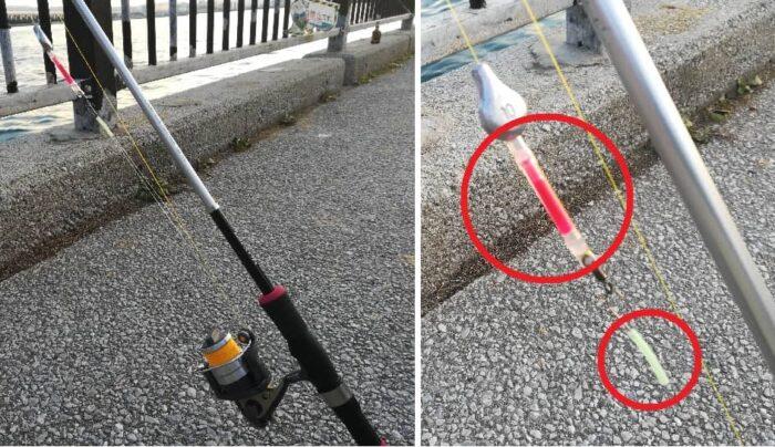 アナゴ釣りはケミホタルや夜光チューブで集魚