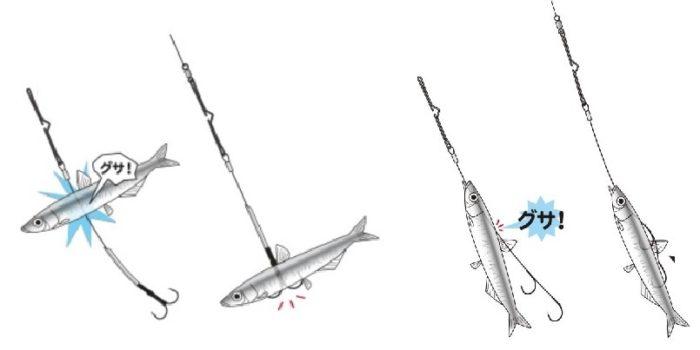 太刀魚のエサの付け方(貫き仕様)