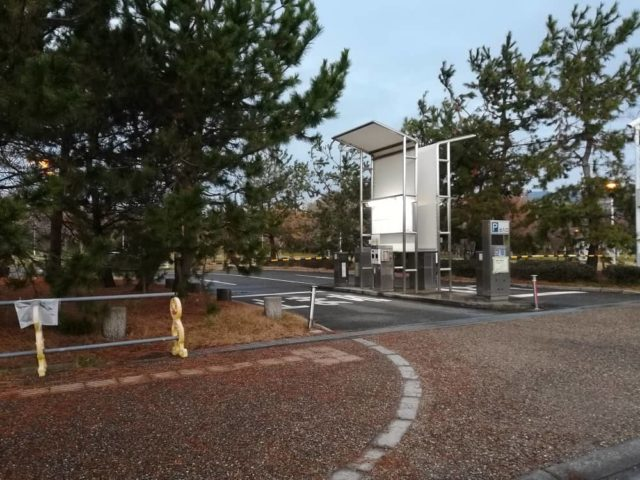 潮芦屋西駐車場から釣り場へアクセス