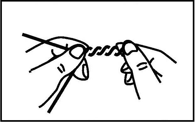 砂ズリ(二本ヨリ糸)の作り方(2)