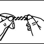 2本ヨリ(2本撚り糸)の作り方
