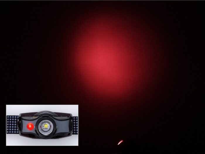 ナイトビジョン(赤色LEDライト)機能