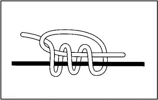 ウキ止めの結び方(3)